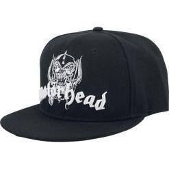 Motörhead Logo Czapka Snapback czarny. Czarne czapki z daszkiem damskie Motörhead, z aplikacjami, z tworzywa sztucznego. Za 99,90 zł.