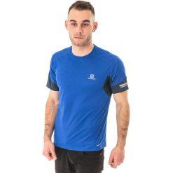 Salomon Koszulka męska Agile Tee Blue Yonder r. M (382472). Niebieskie t-shirty męskie Salomon, m. Za 80,03 zł.