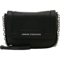 Armani Exchange Torba na ramię nero black. Czarne torebki klasyczne damskie marki Armani Exchange, l, z materiału, z kapturem. Za 439,00 zł.
