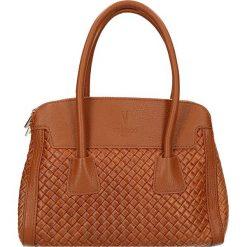 """Torebki klasyczne damskie: Skórzana torebka """"Madeleine"""" w kolorze karmelowym – 28 x 23 x 13 cm"""