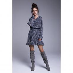 Naoko - Sukienka Sukienka Hannah. Szare sukienki mini marki NAOKO, l, z elastanu, casualowe. Za 219,90 zł.