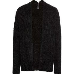 Sweter bez zapięcia z szenili bonprix czarny. Czarne swetry oversize damskie bonprix. Za 99,99 zł.