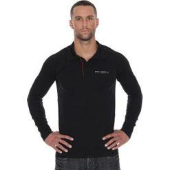 Koszulki polo: Brubeck Koszulka męska polo Prestige z długim rękawem czarna r. L (LS10620)