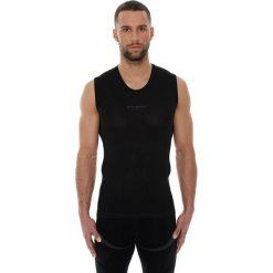 Koszulki sportowe męskie: Brubeck Koszulka męska base layer bez rękawów czarna r. M (SL10100)