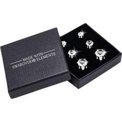 Kolczyki damskie: Pozłacane kolczyki (3 pary) z kryształami Swarovski