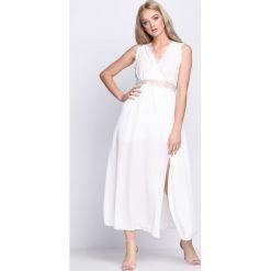 Biała Sukienka Get The Look. Białe sukienki letnie marki Born2be, m. Za 89,99 zł.