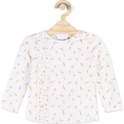 Koszulka. Brązowe bluzki dziewczęce bawełniane SWAN PRINCESS, z długim rękawem. Za 29,90 zł.