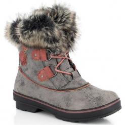 """Kozaki zimowe """"Camurac"""" w kolorze szarym. Szare buty zimowe damskie marki Marco Tozzi. W wyprzedaży za 318,95 zł."""