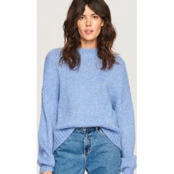 Sweter z domieszką wełny - Niebieski. Niebieskie swetry klasyczne damskie Reserved, l, z wełny. Za 119,99 zł.
