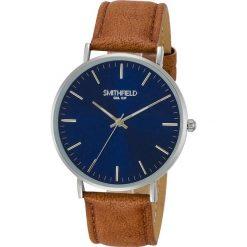 """Zegarek kwarcowy """"Lincoln"""" w kolorze jasnobrązowo-srebrno-białym. Brązowe, analogowe zegarki męskie SMITHFIELD, metalowe. W wyprzedaży za 108,95 zł."""