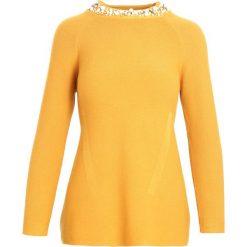 Żółty Sweter Shake Up. Żółte swetry klasyczne damskie marki Born2be, l, ze stójką. Za 89,99 zł.