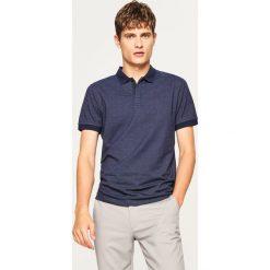 Koszulka polo w drobny wzór - Granatowy. Białe koszulki polo marki Reserved, l. Za 59,99 zł.