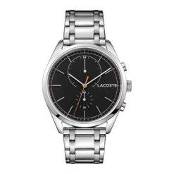 """Zegarek """"SAN-DIEGO-2010918"""" w kolorze srebrnym. Szare, analogowe zegarki męskie Lacoste, srebrne. W wyprzedaży za 652,95 zł."""