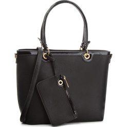 Torebka JENNY FAIRY - RC15520 Black. Czarne torebki klasyczne damskie marki Jenny Fairy, ze skóry ekologicznej. Za 119,99 zł.
