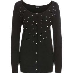 Sweter rozpinany z perełkami bonprix czarny. Szare kardigany damskie marki Reserved, l. Za 79,99 zł.