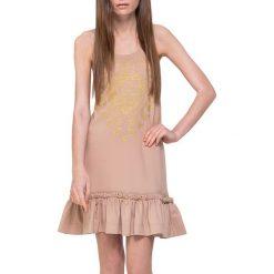 Sukienki hiszpanki: Sukienka w kolorze beżowo-różowym