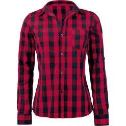 Forplay Checkered Bluzka damska czerwony/czarmy. Czerwone bluzki asymetryczne Forplay, l, klasyczne, z klasycznym kołnierzykiem, z długim rękawem. Za 94,90 zł.