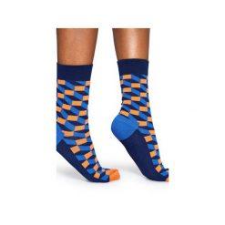 Skarpetki Happy Socks  FIO01-6002. Szare skarpetki męskie Happy Socks, z bawełny. Za 24,43 zł.