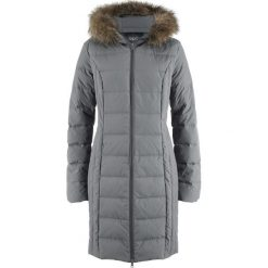 Płaszcze damskie pastelowe: Lekki płaszcz puchowy pikowany bonprix dymny szary