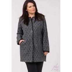 Płaszcze damskie: Jesienny płaszcz z żakardowym wzorem Plus