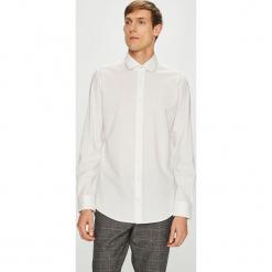 S.Oliver Black Label - Koszula. Szare koszule męskie na spinki marki S.Oliver, l, z bawełny, z włoskim kołnierzykiem, z długim rękawem. Za 219,90 zł.