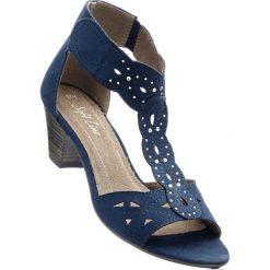 Wygodne sandały bonprix ciemnoniebieski. Niebieskie sandały damskie bonprix, na obcasie. Za 149,99 zł.