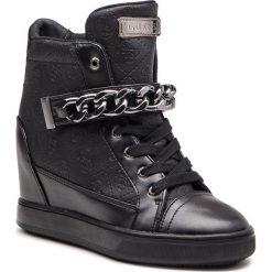 Sneakersy GUESS - FLFLR4 FAL12 BLACK. Czarne sneakersy damskie Guess, z materiału. Za 629,00 zł.