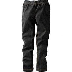 """Legginsy dżinsowe bonprix czarny """"stone"""". Zielone legginsy dziewczęce marki bonprix, w kropki, z kopertowym dekoltem, kopertowe. Za 24,99 zł."""