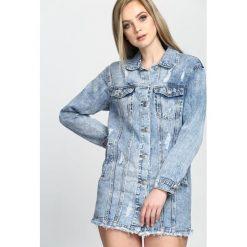 Niebieska Kurtka Turning. Niebieskie kurtki damskie jeansowe Born2be, l. Za 84,99 zł.