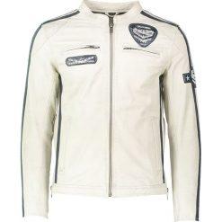 """Kurtki męskie bomber: Skórzana kurtka """"Silverstone"""" w kolorze jasnoszarym"""
