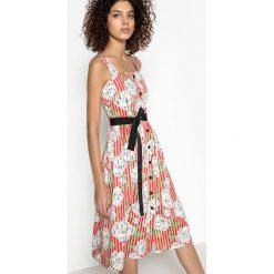 Sukienki hiszpanki: Krótka prosta sukienka z cienkimi ramiączkami