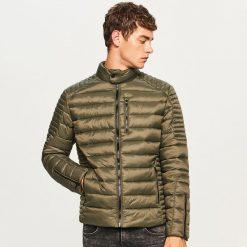 Pikowana kurtka ze stójką - Khaki. Brązowe kurtki męskie pikowane marki LIGNE VERNEY CARRON, m, z bawełny. Za 199,99 zł.