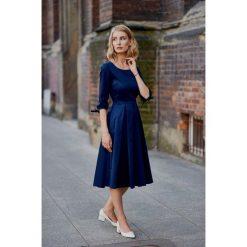 Sukienki hiszpanki: Sukienka Kaja granatowa 32