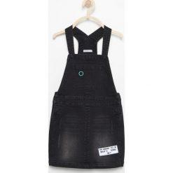 Spódniczki dziewczęce jeansowe: Jeansowa spódnica na szelkach – Czarny