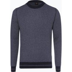 Swetry klasyczne męskie: BOSS Casual - Sweter męski – Kanadrin, niebieski