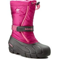 Kozaki dziewczęce: Śniegowce SOREL – Youth Flurry NY1885 Deep Blush/Tropic Pink 684