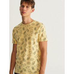 T-shirty męskie: T-shirt THE SIMPSONS - Żółty