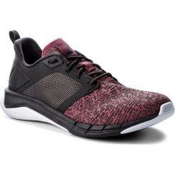 Buty Reebok - Print Run 3.0 CN4912  Berry/Coal/White. Szare buty do fitnessu damskie marki Reebok, l, z dzianiny, z okrągłym kołnierzem. W wyprzedaży za 229,00 zł.