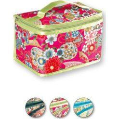 Kosmetyczki damskie: TOP CHOICE Kosmetyczka damska Silk kufer z klapką (92565)