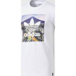 Adidas Originals Koszulka męska Tokyo Photo Tee biała r. L (BR4973). Szare t-shirty męskie marki adidas Originals, l, z nadrukiem, z bawełny, z kapturem. Za 130,54 zł.