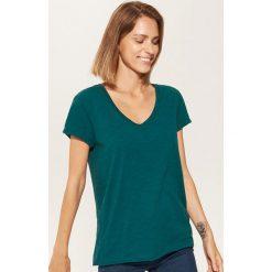T-shirt basic - Turkusowy. Niebieskie t-shirty damskie House, m. Za 17,99 zł.