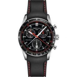 PROMOCJA ZEGAREK CERTINA DS 2 Gent Precidrive Chrono C024.447.17.05. Czarne zegarki męskie CERTINA, ze stali. W wyprzedaży za 2574,00 zł.