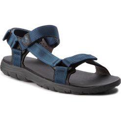 Sandały JACK WOLFSKIN - Seven Seas 2 Sandal 4026651 Poseidon Blue. Czarne sandały męskie marki Jack Wolfskin, w paski, z materiału. W wyprzedaży za 189,00 zł.