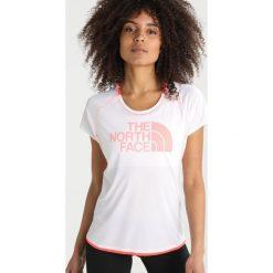 The North Face FLIGHT  Tshirt z nadrukiem white/fiery coral. Różowe topy sportowe damskie marki The North Face, m, z nadrukiem, z bawełny. Za 229,00 zł.
