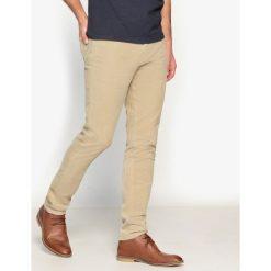 Rurki męskie: Spodnie slim z weluru