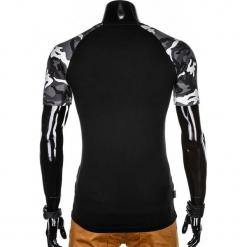 T-SHIRT MĘSKI Z NADRUKIEM MORO S1013 - CZARNY/GRAFITOWY. Czarne t-shirty męskie z nadrukiem Ombre Clothing, m. Za 35,00 zł.