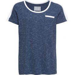 T-shirt bonprix indygo. Niebieskie t-shirty damskie bonprix, z okrągłym kołnierzem. Za 29,99 zł.