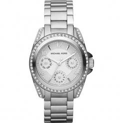 """Zegarek kwarcowy """"Blair"""" w kolorze srebrnym. Szare, analogowe zegarki damskie marki Michael Kors, srebrne. W wyprzedaży za 560,95 zł."""