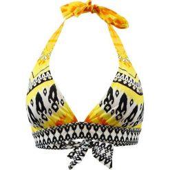 """Biustonosz bikini """"Cavalaire"""" w kolorze żółto-czarno-białym. Żółte biustonosze marki NABAIJI. W wyprzedaży za 173,95 zł."""