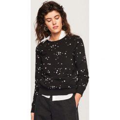 Bluzy rozpinane damskie: Bluza z domieszką bawełny organicznej - Czarny